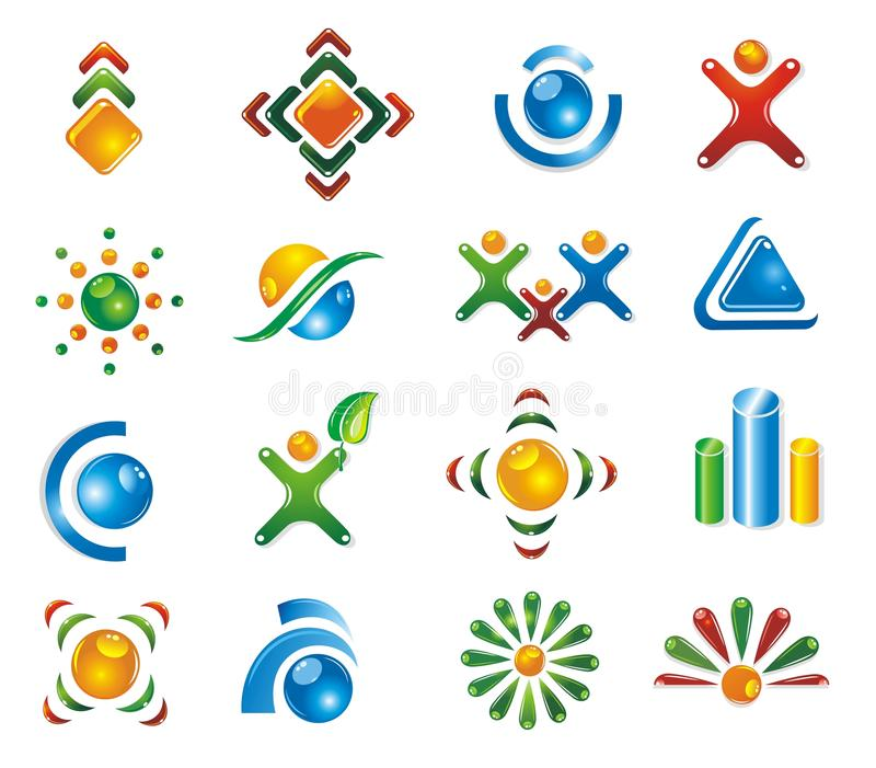 Download Set of 3D design elements. stock vector. Image of graphic - 10462581