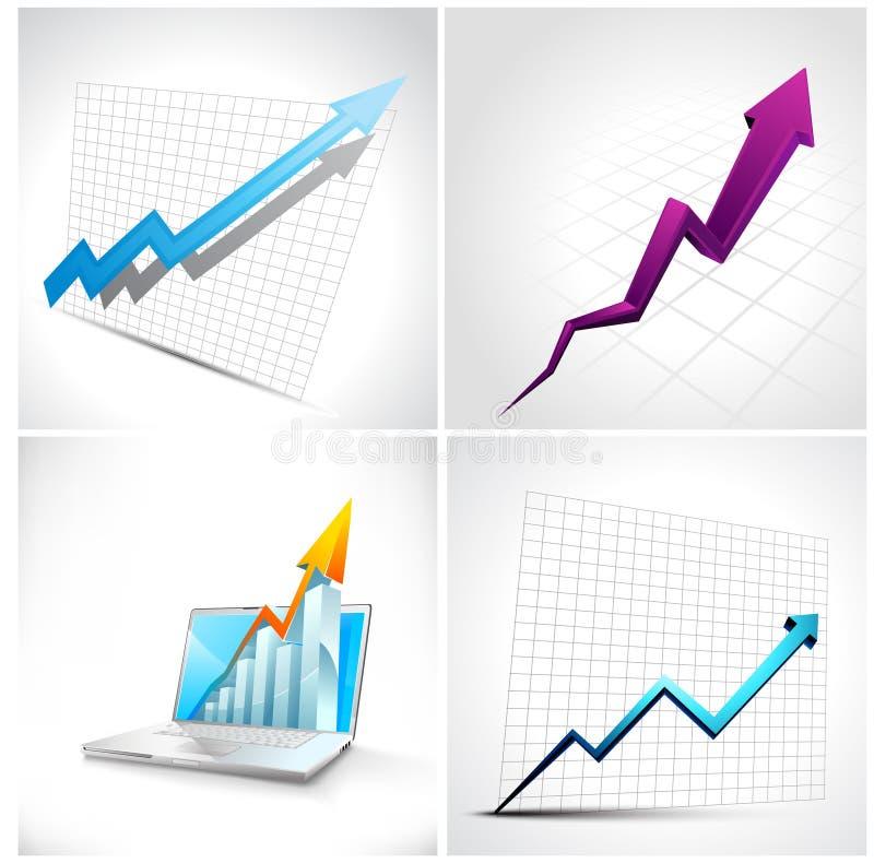 Set Of 3D Diagram And Arrow Stock Photos