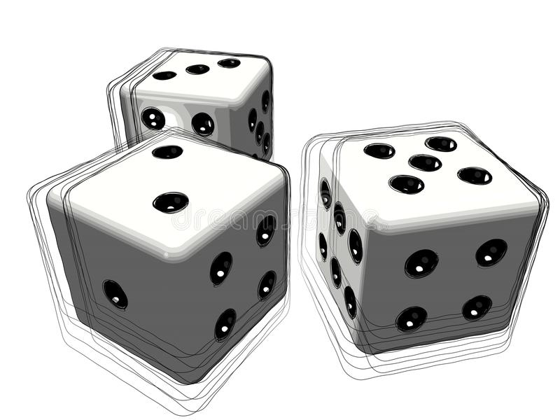 Download Set of 3d dice or die stock image. Image of gambling - 20133389