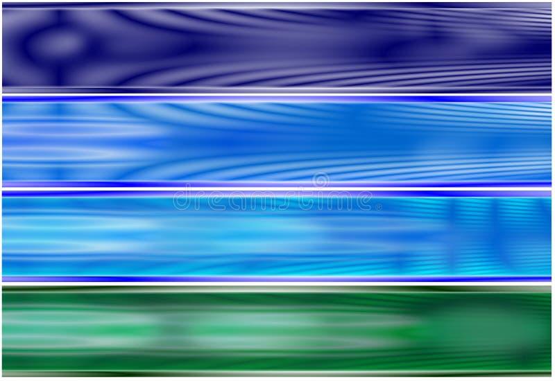 Download Set 4 Alien Energy Fields Bann Stock Illustration - Image: 5525819