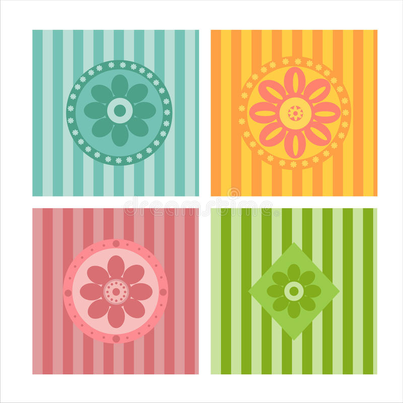 Download Set of 4 backgrounds stock vector. Image of pattern, graphic - 14036345