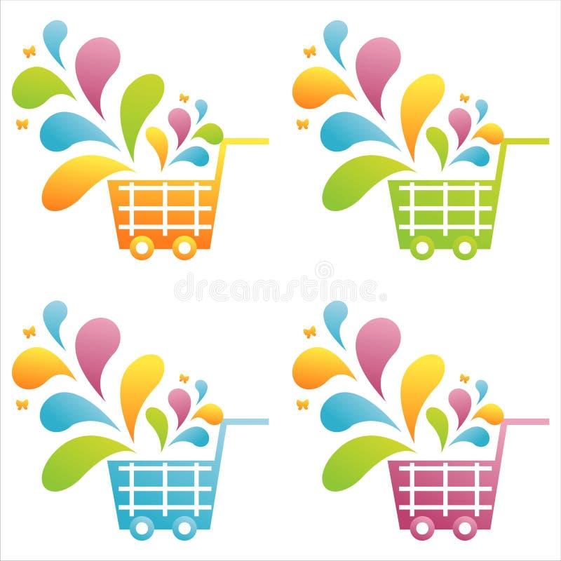 Download Set of 4 baskets stock vector. Illustration of illustration - 14474387