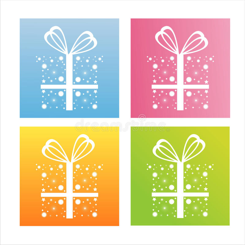 Download Set Of 4 Christmas Backgrounds Stock Vector - Illustration: 16573295