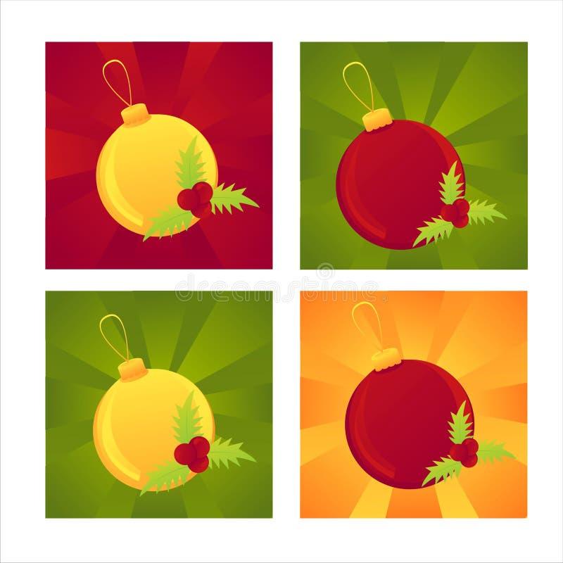 Set of 4 christmas backgrounds