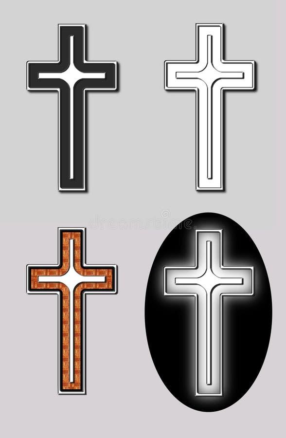 Set Of 4 Crosses Stock Photo