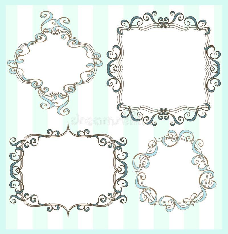 Download Set of 4 frames stock illustration. Image of deco, buttons - 10783194
