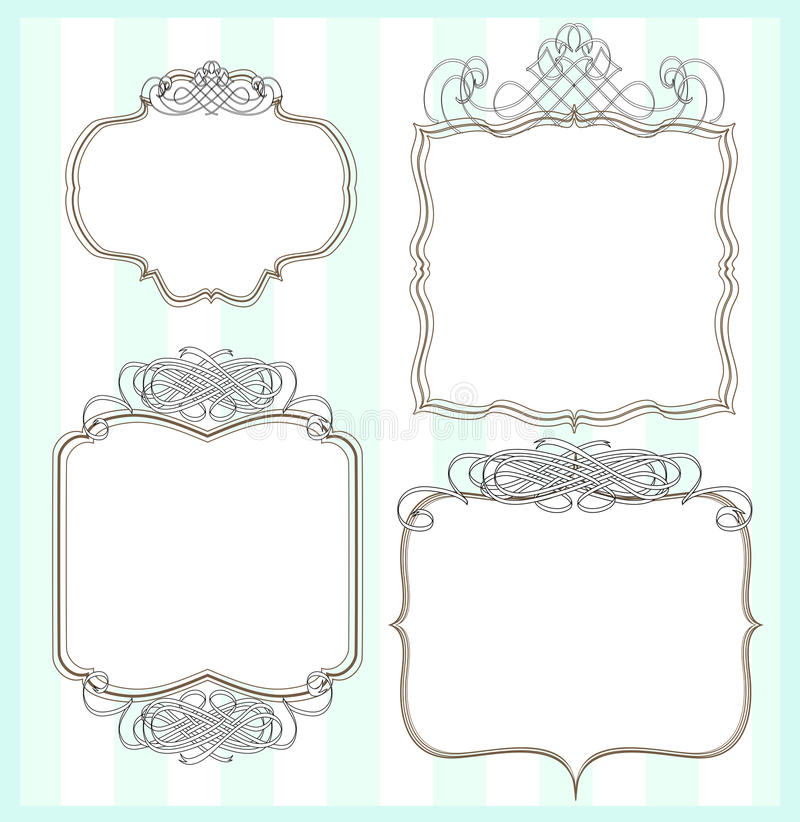 Download Set of 4 frames stock illustration. Image of designs - 10783298