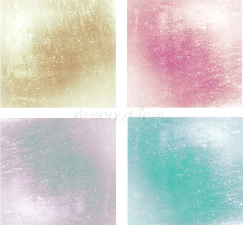 Set of 4 glossy backgrounds. Set of differents glossy and pastel backgrounds royalty free stock photography