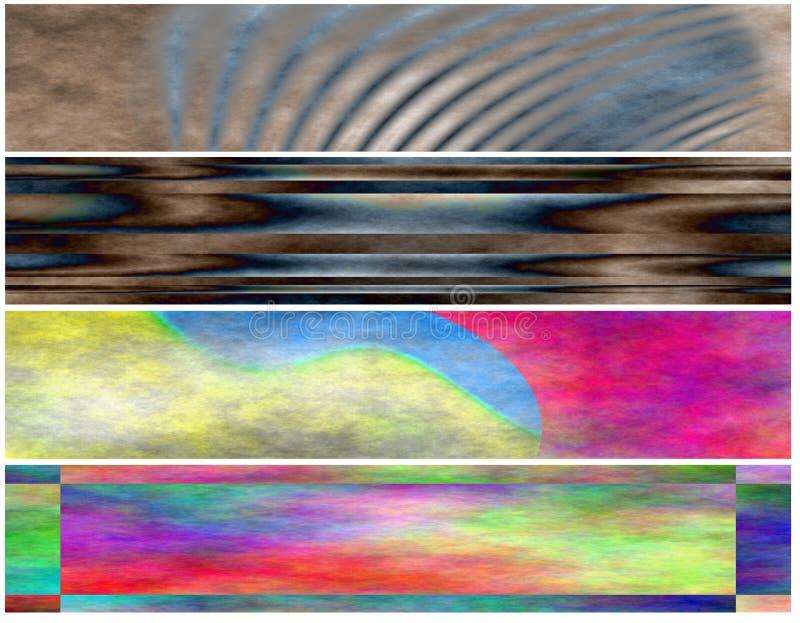 Download Set 4 Grunge Parchment Header Stock Illustration - Image: 5518075