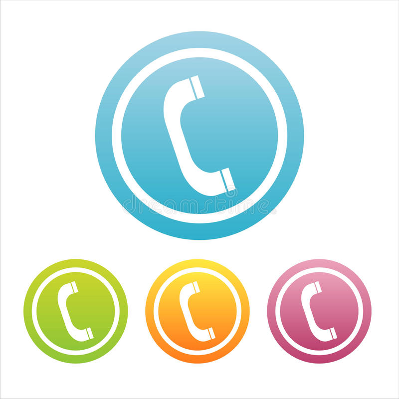 Download Set of 4 phone signs stock vector. Image of phone, speech - 13285848
