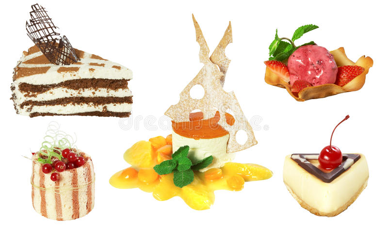 Download Set of 5 cakes stock photo. Image of restaurant, background - 15397846
