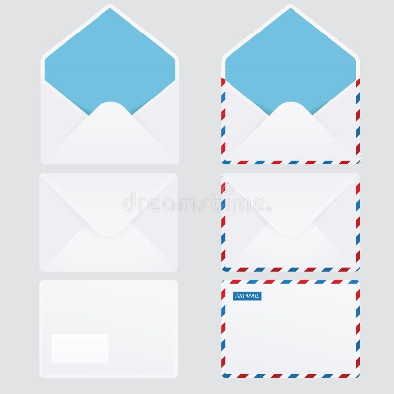Set Of 6 Glossy Envelopes Royalty Free Stock Photo