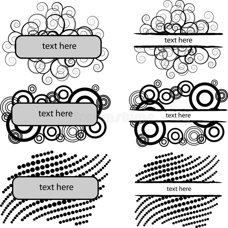 Download Set Of 6 Monochrome Banners Stock Vector - Image: 4382519