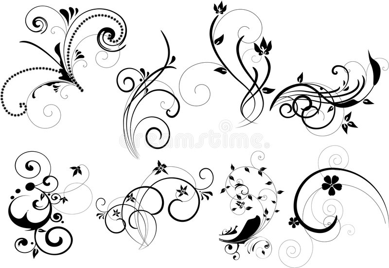 set royaltyfri illustrationer