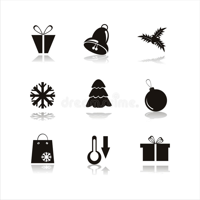 Download Set Of 9 Christmas Icons Royalty Free Stock Photo - Image: 16216115