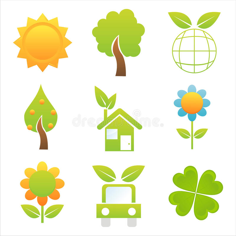 Download Set of 9 nature icons stock vector. Illustration of colorful - 15167405