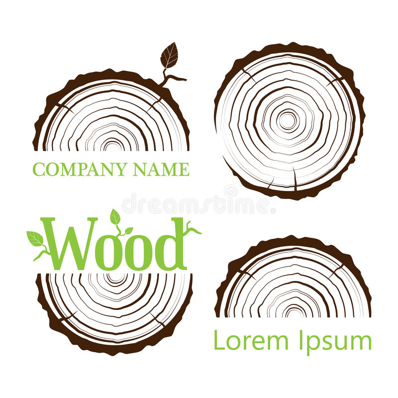 Free Set A Cross Section Of The Trunk With Tree Rings. Vector Illustration. Logo. Tree Growth Rings. Tree Trunk Cross-section. Stock Photo - 90889310