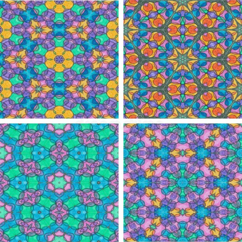 Set abstrack wodnego koloru obrazu bezszwowy kolorowy backgroun ilustracja wektor