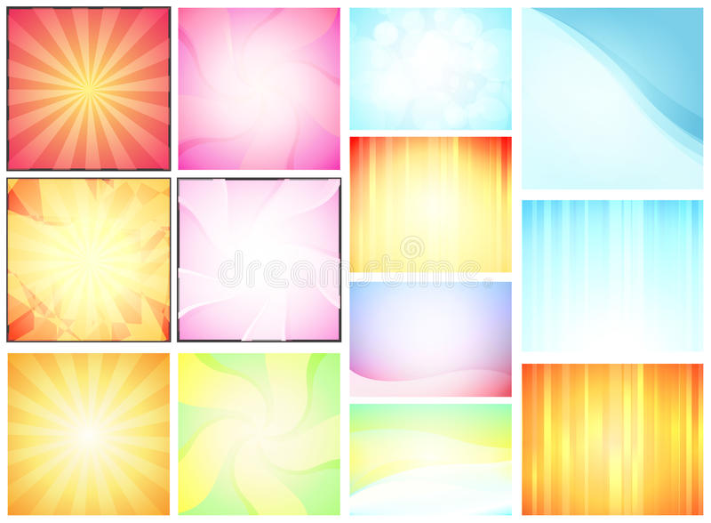 Set of Abstract Backdrops stock illustration