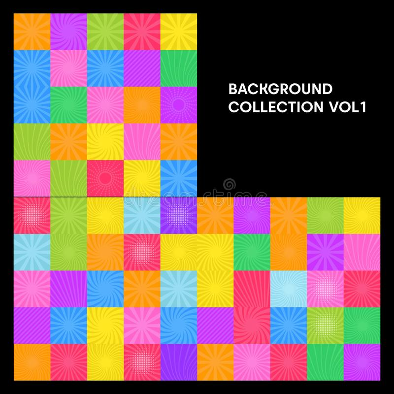 Set of abstract background collection. Vector vector illustration