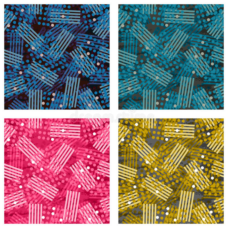 Set of abstract background pattern with dot elements royalty free stock images