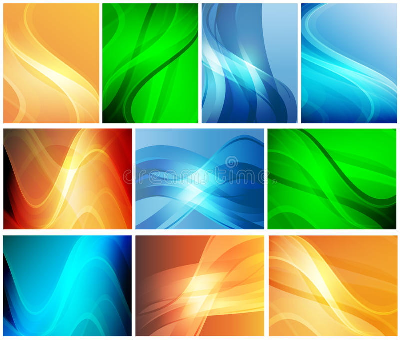 A set of abstract backgrounds stock illustration