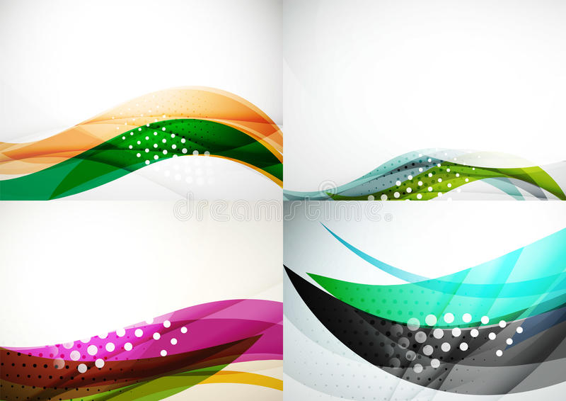 Set of abstract backgrounds. Elegant colorful vector illustration