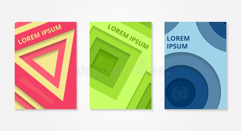 Set of abstract backgrounds. Minimal Vector covers design. vector illustration