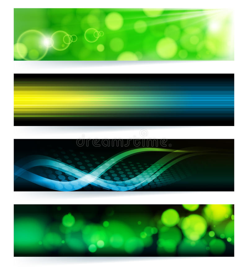 Set of abstract banners. stock photography