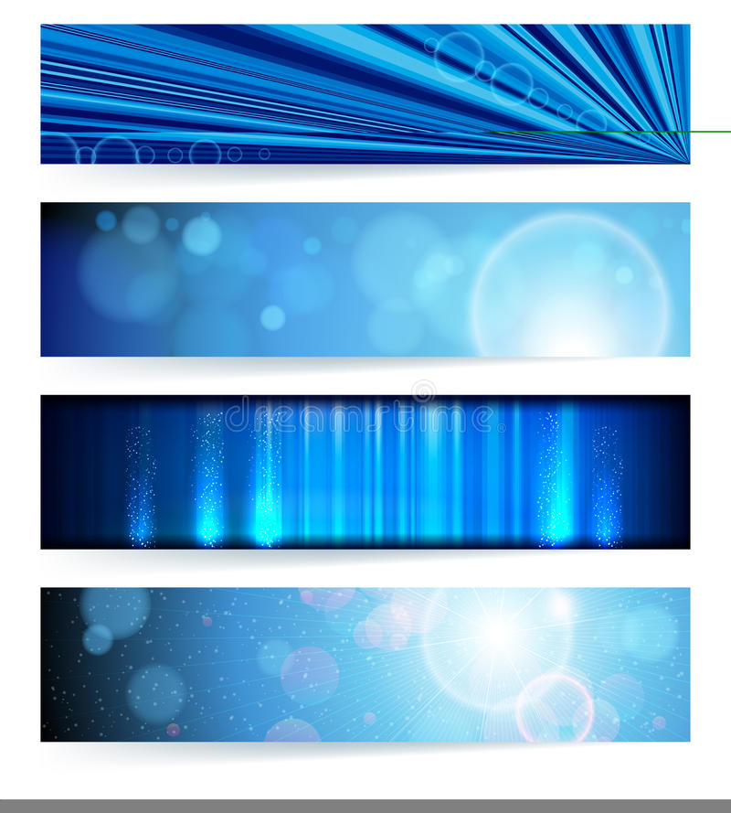 Set of abstract banners. Blue Design. vector illustration