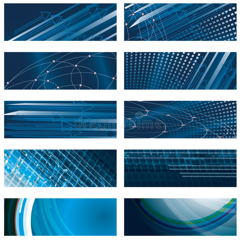 Set of abstract blue background stock images
