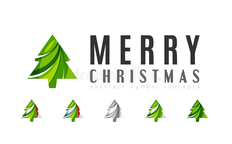 Set of abstract Christmas Tree Icons, business stock illustration