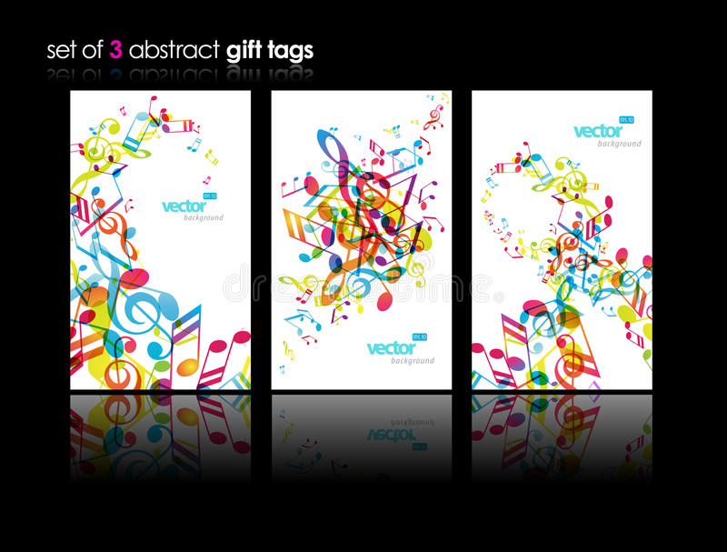 Download Set Of Abstract Colorful Music Tags. Stock Vector - Image: 21274115