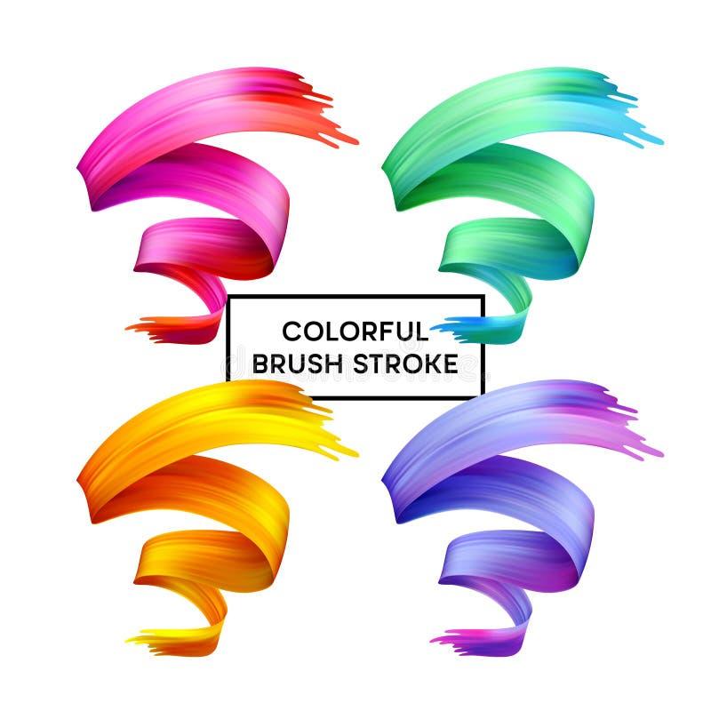 Set abstract colorful wave flow design elements. Vector illustration. EPS10 royalty free illustration