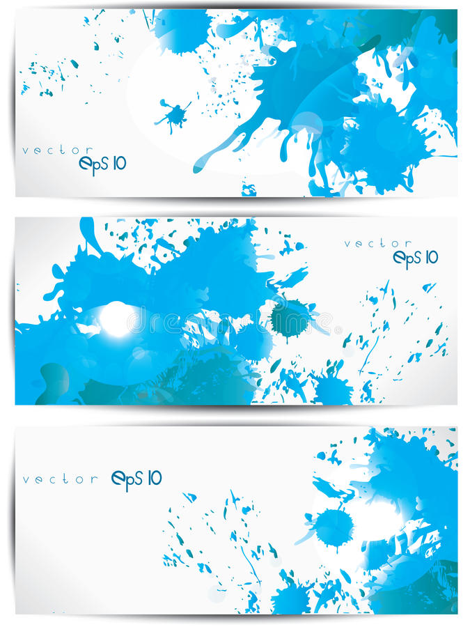 Set of abstract colorful web headers and cards. This is file of EPS10 format royalty free illustration