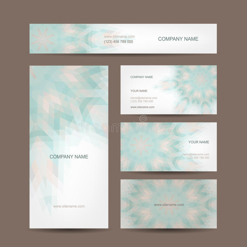 Set of abstract creative business cards design. This is file of EPS10 format royalty free illustration