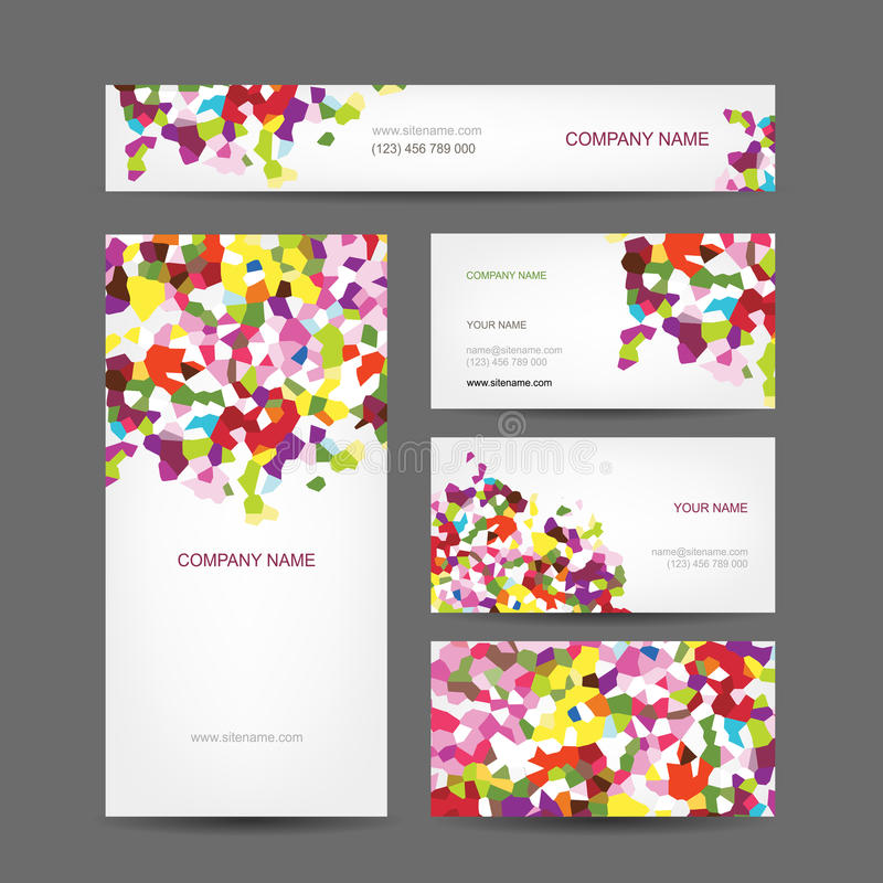 Set of abstract creative business cards design. This is file of EPS10 format vector illustration