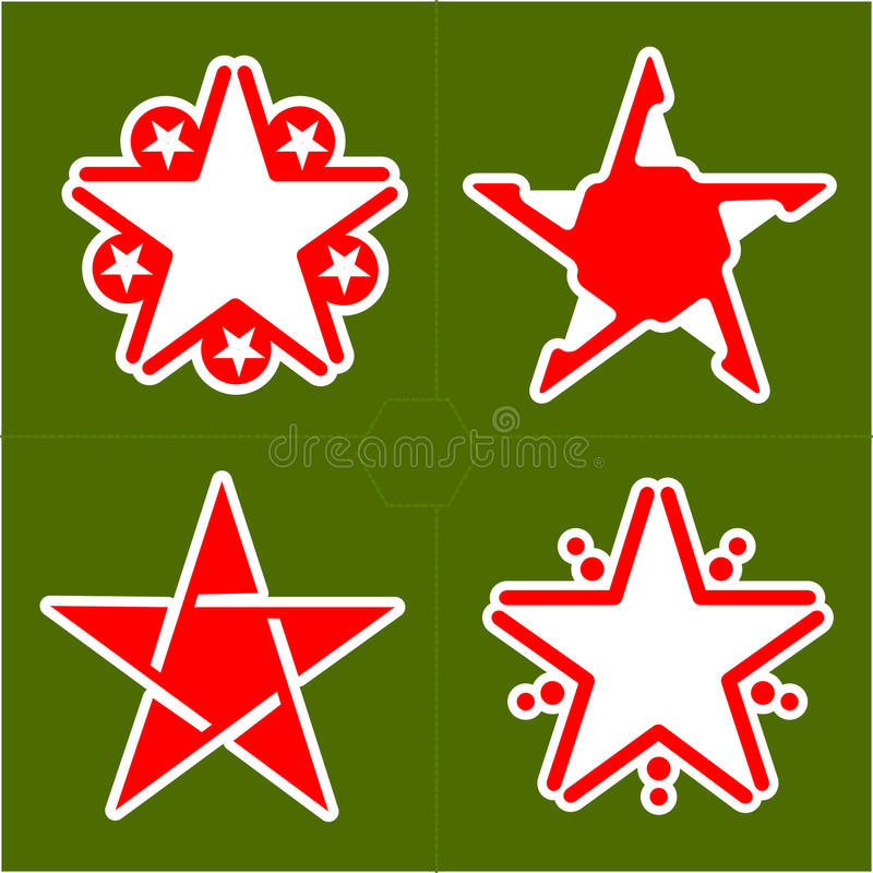 Set Of Abstract Design Element Star, Illustration Stock Images
