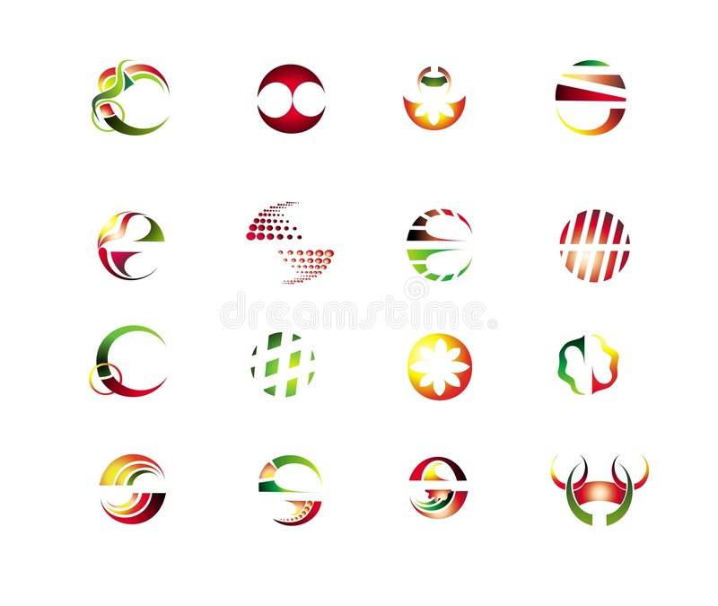 Set of abstract design elements stock illustration