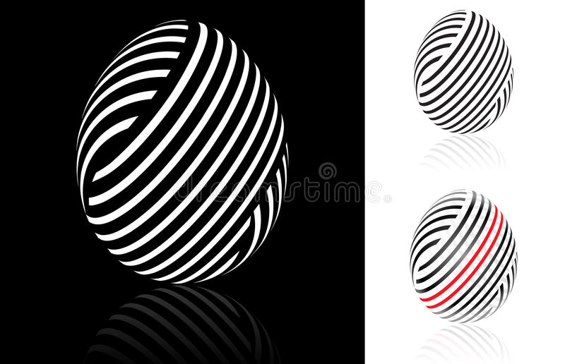 Set of abstract Easter egg vector illustration
