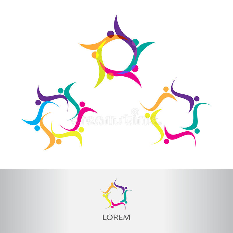 Vector Abstract Circle Swirl Logo Design Elements, Vector