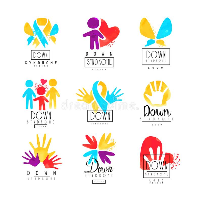 Set of abstract emblems with ribbons humans and hands logos for download set of abstract emblems with ribbons humans and hands logos for medical centers stopboris Images