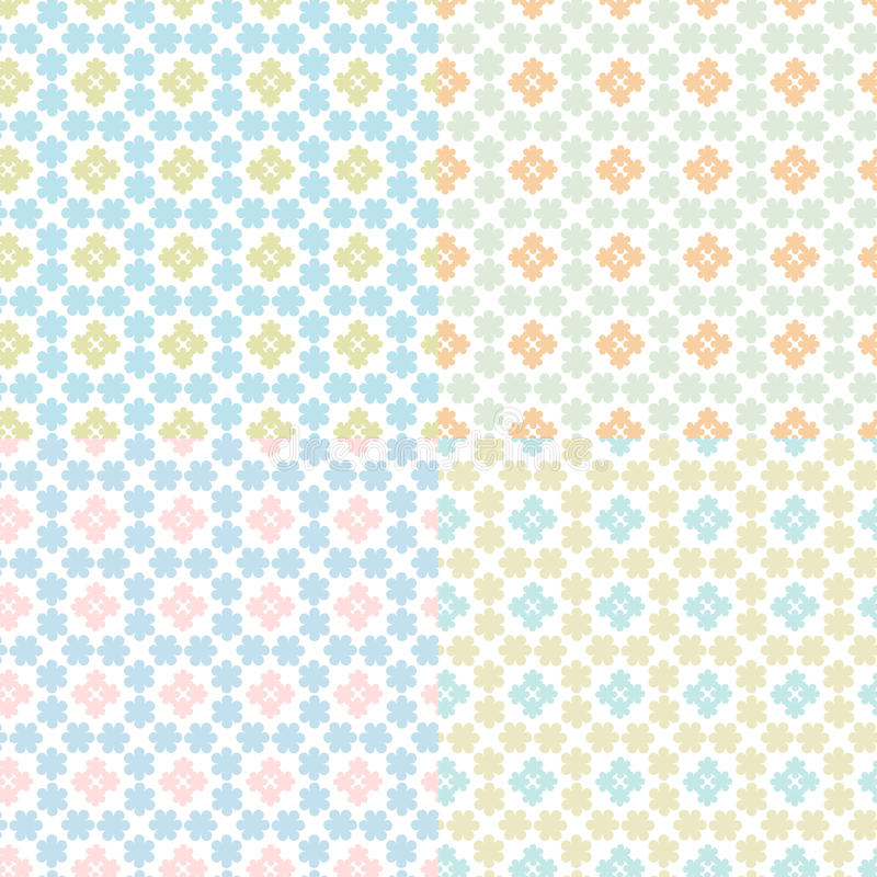 Download Set Of Abstract Floral Geometrical Seam Stock Vector - Image: 24900036