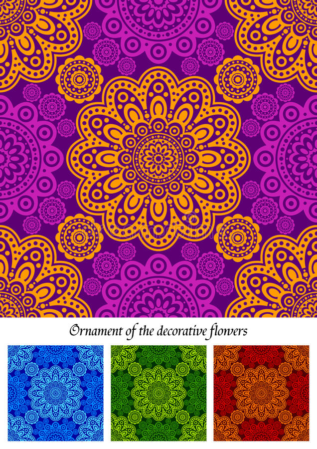 A Set Of Abstract Flower Ornaments Stock Photo
