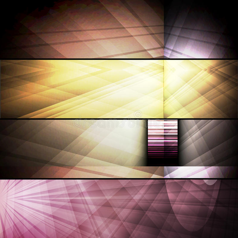 Set Of Abstract Frames Stock Images