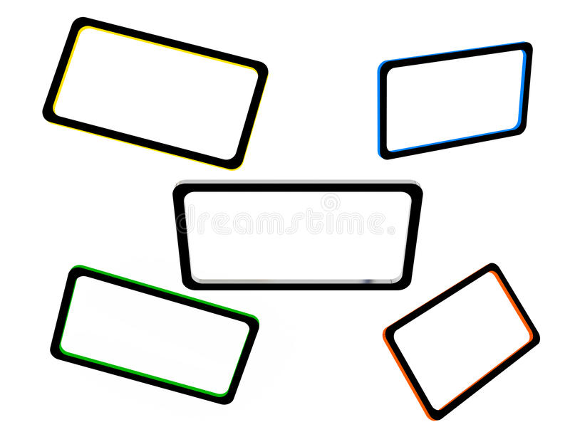 Download Set of abstract frames stock illustration. Image of three - 34299747