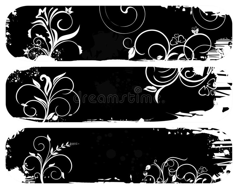 Set Abstract Grunge Banners Royalty Free Stock Image