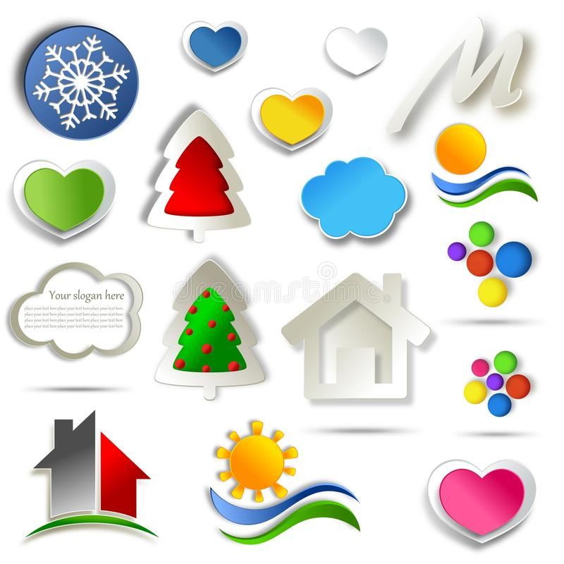 Download Set Of Abstract Icon Design Stock Illustration - Image: 30333795