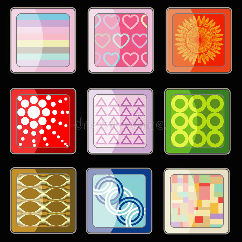 Download Set Of Abstract Icon Vector Stock Photo - Image of gossip, technology: 33956588
