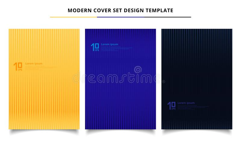 Set of abstract lines patterns minimal covers design template. royalty free illustration